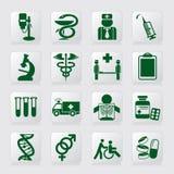 Símbolos médicos Imagens de Stock Royalty Free
