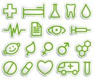 Símbolos médicos Imágenes de archivo libres de regalías