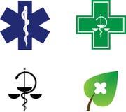 Símbolos médicos Foto de Stock