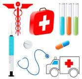 Símbolos médicos Foto de archivo libre de regalías