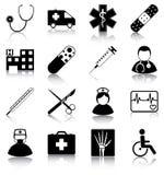 Símbolos médicos Imagen de archivo libre de regalías
