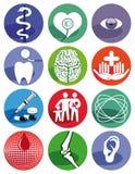 Símbolos médicos Fotografía de archivo