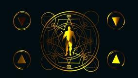 Símbolos místicos esotéricos stock de ilustración