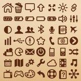 Símbolos móviles Imagenes de archivo
