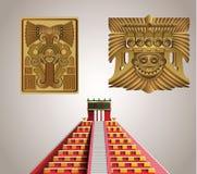 Símbolos maias de Acient Fotos de Stock Royalty Free