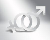 Símbolos masculinos e fêmeas Imagens de Stock Royalty Free