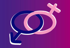 Símbolos masculinos e fêmeas Imagem de Stock Royalty Free