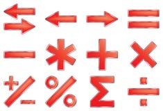 Símbolos matemáticos. Foto de archivo libre de regalías