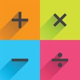 Símbolos matemáticos básicos Fotos de Stock Royalty Free