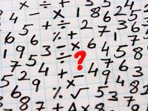 Símbolos matemáticos e resolução de problemas imagem de stock royalty free
