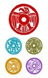 Símbolos mayas ilustración del vector