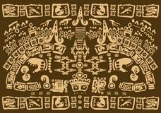 Símbolos mayas Fotos de archivo