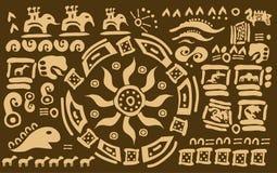 Símbolos mayas místicos Fotos de archivo libres de regalías