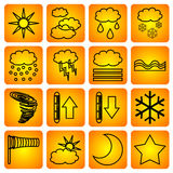 Símbolos meteorológicos Fotos de archivo