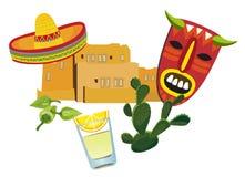 Símbolos mexicanos Imágenes de archivo libres de regalías