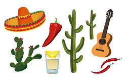 Símbolos mexicanos Fotografia de Stock