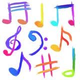 Símbolos musicais Imagem de Stock