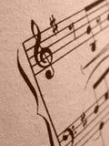 Símbolos musicales Fotos de archivo