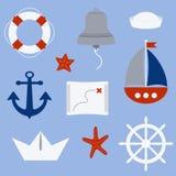 Símbolos náuticos Fotos de archivo