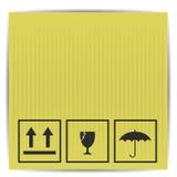 Símbolos na caixa de papel Imagem de Stock