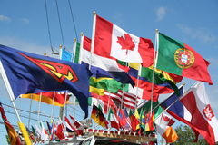 símbolos nacionais Fotografia de Stock Royalty Free