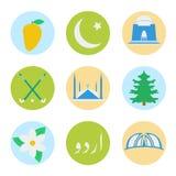 Símbolos nacionais de Paquistão Imagens de Stock