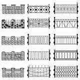 Símbolos negros de la cerca libre illustration