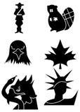 Símbolos norte-americanos Foto de Stock Royalty Free