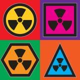 Símbolos nucleares Fotos de archivo libres de regalías