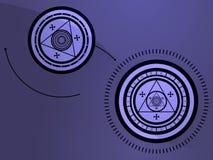 Símbolos Occult ilustração royalty free