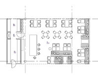 Símbolos padrão da mobília usados em planos da arquitetura Fotografia de Stock