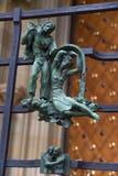 Símbolos paganos del zodiaco en el St Vitus Cathedral del Golden Gate en Praga imagen de archivo libre de regalías