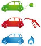 Símbolos para combustíveis diferentes ilustração do vetor