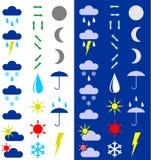 Símbolos para la indicación del tiempo. Imagen de archivo