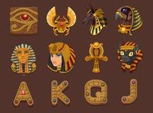 Símbolos para o jogo dos entalhes Fotografia de Stock Royalty Free