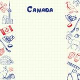 Símbolos Pen Drawn Doodles Vector Collection de Canadá ilustración del vector