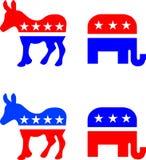 Símbolos políticos americanos Imagens de Stock Royalty Free