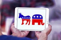 Símbolos políticos da eleição dos EUA imagem de stock