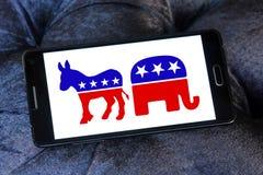 Símbolos políticos de la elección de los E.E.U.U. Imágenes de archivo libres de regalías