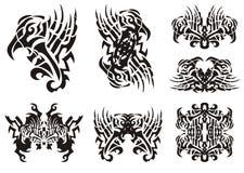 Símbolos preto e branco incomuns tribais da águia Imagem de Stock Royalty Free