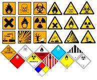 Símbolos químicos Imagen de archivo libre de regalías
