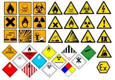 Símbolos químicos ilustração royalty free