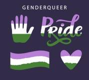 Símbolos raros del orgullo del género LGBT endereza concepto libre illustration