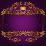 Símbolos reales en un fondo púrpura Imagen de archivo