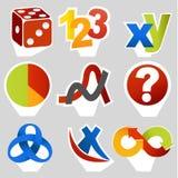 Símbolos relacionados da matemática Imagem de Stock