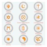 Símbolos religiosos Imágenes de archivo libres de regalías