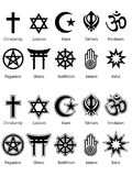 Símbolos religiosos Foto de Stock Royalty Free