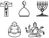 Símbolos religiosos Foto de archivo