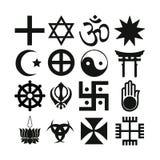 Símbolos religiosos Fotos de archivo