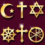 Símbolos religiosos Imagen de archivo libre de regalías